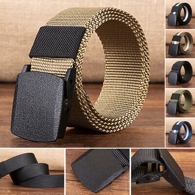 2019 Fashion Nylon Waistband Canvas Belt Cloth Outdoor Mens Sports Military Belt
