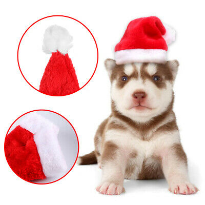 Christmas Costume Cat Dogs Puppy Adjustable Santa Pet Hat Holiday Dress Up