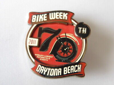 HARLEY-DAVIDSON PINS BADGE COLLECTOR BIKE WEEK DAYTONA BEACH 2011 70th