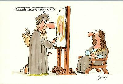 Large Rude Risque Comic Wicked Willie Portrait Painter Postcard - New