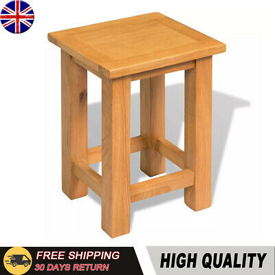 Small Oak Side Table Solid Wood Slim Occasional/Coffee/Lamp/End/Console Stand