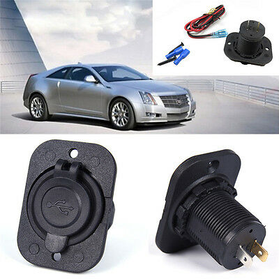 Dual USB Car Cigarette Lighter Socket Splitter 12V`Charger Power Adapter`Outl 4H