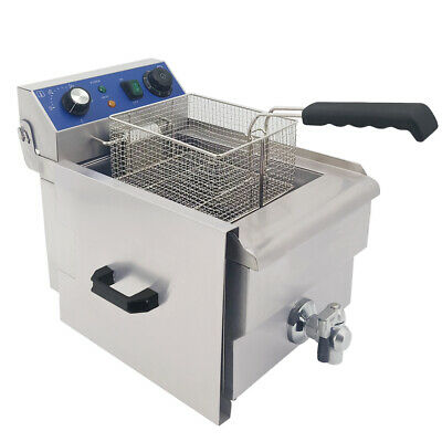 3000W Electric Deep Fryer Stainless Steel 10L Fat Fry Chip Commercial Countertop
