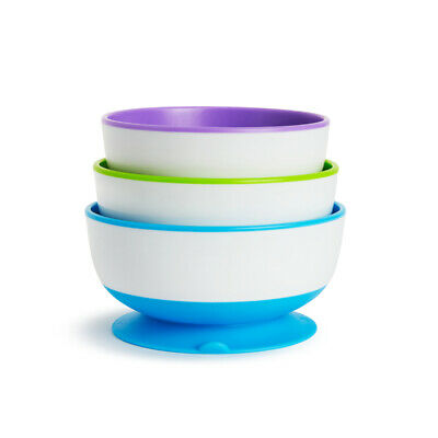 Munchkin Stay Put Suction Bowls, Weaning Bowls 3Pk