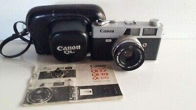 Canon Canonet QL25  Film Camera with case & instruction manual.