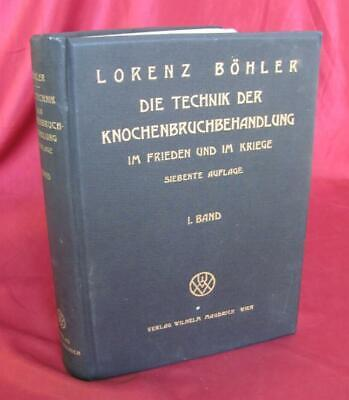 1941 Vintage German Medical Hardcover Book – Bone Fracture Treatment