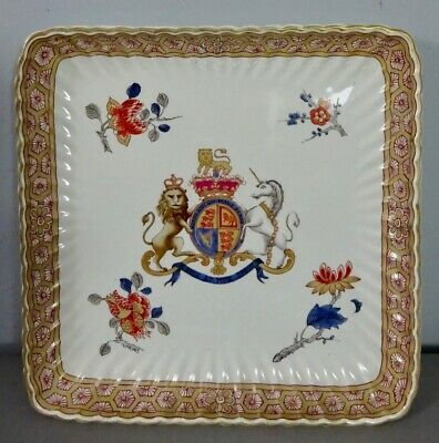 Grand Royal Coat of Arms of UK armorial plate 19th c. faience - Wappen Heraldik