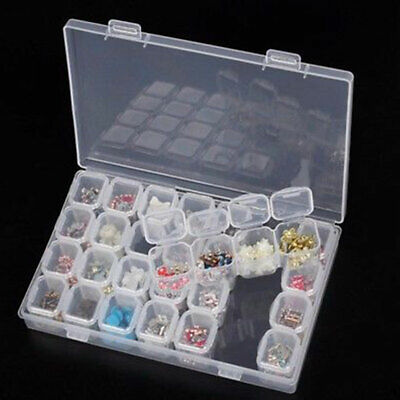 28Slots Embroidery Diamond Painting Accessories Storage Box Case Nail Art Holder