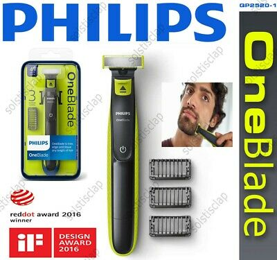Philips QP2520/25 OneBlade One Blade Shaver/ Styler/ Trimmer- 3 Combs-***NEW***