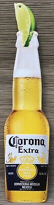 Corona Extra Cerveza Beer Bottle Tin Metal Sign Advertising Room Man Cave NEW