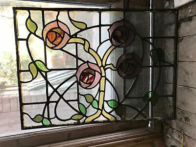 Original beautiful stained glass window 87cm x 63cm approx collect London N13