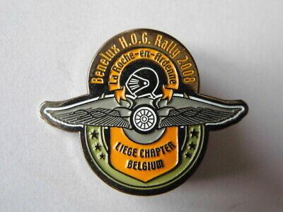 Harley-Davidson Pins Collector Benelux Hog Rally 2008 Liege Chapter Belgium