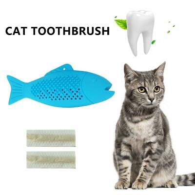 Cat Fish Toothbrush Pet  Silicone Molar Stick Catnip Teeth Cleaning Toy