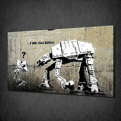 Banksy Father Graffiti Street Art Canvas Print Picture Poster Wall Decor