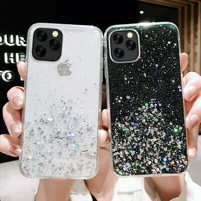Bling Glitter Case For iPhone 11 Pro Max 11 Pro Clear Gel Soft Phone Case Cover