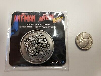 Rare Marvel Ant-Man And The Wasp AMC Fan Event Exclusive Collector Coin