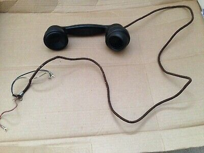 Vintage western electric E 1 Telephone Handset & Cloth Cord Part for 102 202