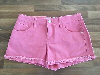 Brand New (No Tags) Primark Salmon Pink Denim Shorts Age 12-13 Years