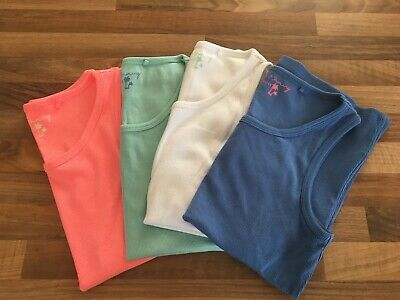 Brand New Set Of 4 Girls Summer Coloured Vest Tops From Next Age 11 Years