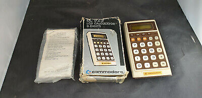 Boxed Vintage Commodore LC 925 LCD Calculator  Faulty Spares Repairs