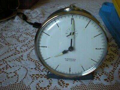Vintage 1950s/60s Smiths Timecal Deluxe Alarm Clock Superb Condition