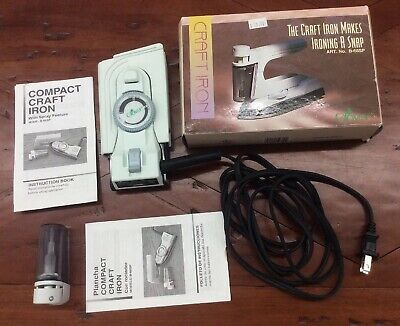 Clover B-68SP Craft Travel Iron Compact Lightweight Dual Voltage With Spray
