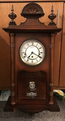 Hermle Mechanical Regulator Wall Clock - Walnut - Westminster Chime Used