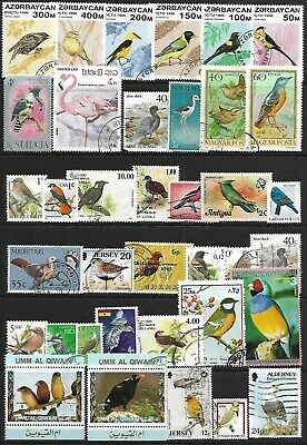 "thematic stamps selection of (37) ""Birds"" stamps"