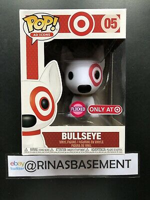 Damaged Box Funko POP Ad Icons Flocked Bullseye Target Exclusive New in hand