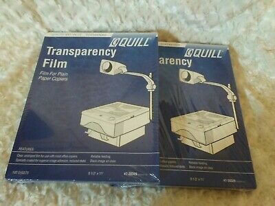 QUILL TRANSPARECNY FILM / 100-per Box / 2-Boxes / 200-Total / NEW SEALED