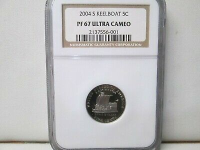 2004 S Keelboat Jefferson Proof Nickel 5 Cent NGC PF 67 Ultra Cameo
