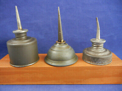 Vintage lot of 3 Small Thumb Oil Cans ~ 3 Different Styles~ 1Eagle   L8