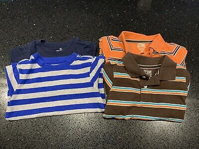 Boys Lot Of 4 Long Sleeve Shirts 3T Thermal Stripes GUC Children's Place