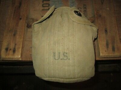 WWII WW2  M-1910 Canteen Cover Pouch US ARMY  USMC ORIGINAL 1942 early war