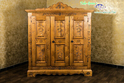 Voglauer Anno 1600 Farmhouse Wardrobe Wardrobe Cottage Antique Style Wardrobe