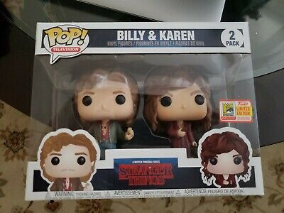 Funko Pop SDCC 2018 Billy and Karen Stranger Things Limited Edition Sticker