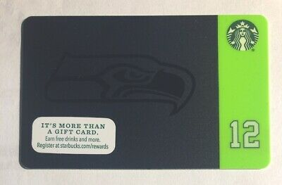 NEW Starbucks Limited Edition NFL SEATTLE SEAHAWKS 2015 Card