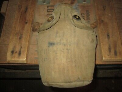WWII WW2  M-1910 Canteen Cover Pouch US ARMY  USMC ORIGINAL
