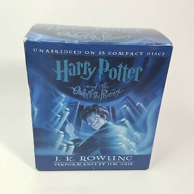 Harry Potter and the Order of the Phoenix 23 CDs Audio Book 23 J K Rowling -good