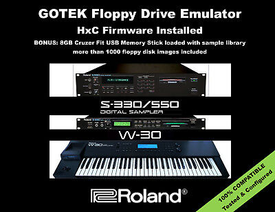 GOTEK Floppy Drive Emulator for ROLAND W-30 S-330 S-550 with 1000+ DISK LIBRARY!