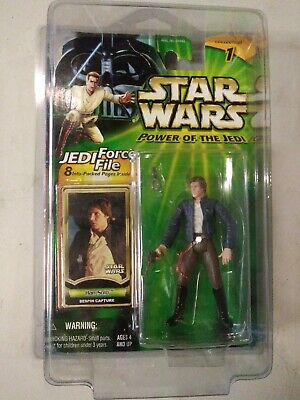 Star Wars Power of the Jedi Han Solo Bespin Capture Figure New in Star Case