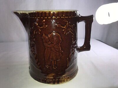 Early 1900s Molded Stoneware Pitcher