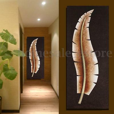 Modern Abstract Canvas Leaves Painting Print Home Wall Decor Picture