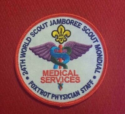 Foxtrot Physician Staff Patch Set 2019 24th World Scout Jamboree IST