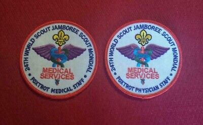 Foxtrot Medical Staff 2 Patch Set 2019 24th World Scout Jamboree Physician&Staff