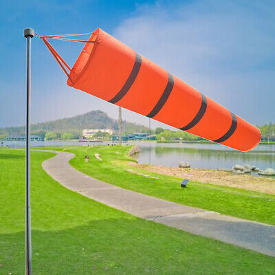 4x 60cm 24inch Airport Windsock Aviation Outdoor Wind SOCK Bag Camping Flag