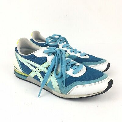 Onitsuka Tiger Ultimate Tiger Light Blue Casual Athletic Suede Shoe Women's 7