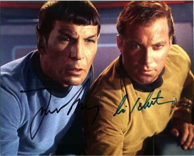 William Shatner Leonard Nimoy signed 8x10 picture Photo autographed pic with COA