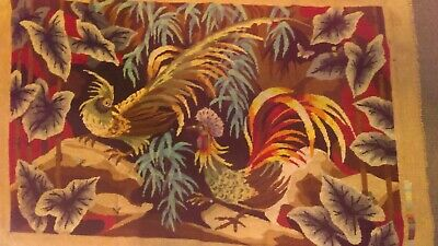 "Vintage Tapestry, ""Birds of Paradise"", 45"" x 28"""
