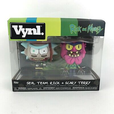 Multicolor Funko Vynl Morty-Seal Rick and Scary Terry Collectible Figure